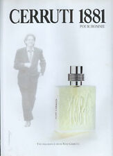 Nino Cerruti 1881 Fragrance 1995 Magazine Advert #4114