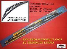 2  X ESCOBILLAS LIMPIAPARABRISAS METALICA COCHE HONDA INTEGRA DE 1985 HASTA 1989