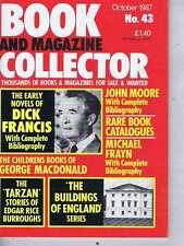 DICK FRANCIS / TARZAN / JOHN MOORE Book Collector no. 43 Oct 1987