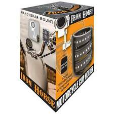 Iron Horse™ Motorcycle Cup Holder Handlebar Mount Fits Harley, Indian and More
