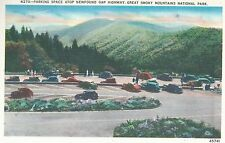 Parking Atop Newfound Gap  Hwy  Great  Smoky Mountains Park  TN   Postcard 10214