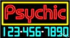 """NEW """"PSYCHIC"""" w/YOUR PHONE NUMBER 37x20 REAL NEON SIGN W/CUSTOM OPTIONS 15099"""