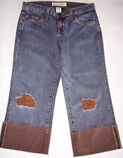 Karma Sutra Capri Cropped Jeans Brown Size 5 Low Rise