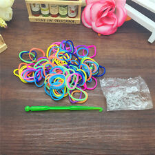 NEW 600pcs Mix Loom Rubber Band Refills Fit Rainbow kid bracelet S clips PT02
