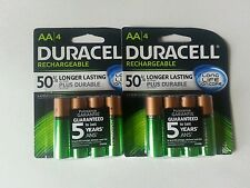 DURACELL AA RECHARGEABLE BATTERIES/LOT OF 8
