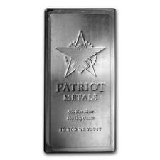 One piece 100 oz 0.999 Fine Silver Bar Patriot Metals Lot 8847