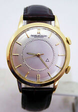 18k Gold JAEGER-LeCOULTRE Automatic MEMOVOX Alarm Watch 1960s Cal.815* EXLNT