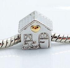 2pcs European Charm BeadS Fit 925 Silver Necklace Bracelet SC1300