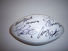 LEON HART,JOHNNY LATTNER,JEROME BETTIS,JOE HEAP+3 IRISH W/COA SIGNED FOOTBALL
