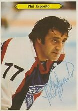 Phil Esposito Signed 1981/82 O-Pee-Chee Giants #14 Autograph Auto PSA/DNA Z10836