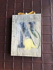 Vintage Letter N on a Wood Block to Hang on Wall