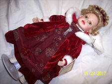 "Beautiful 'Vanessa Collection' Porcelain Doll by Timeless Treasures 16"" COA 2003"