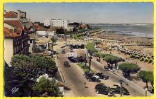 cpsm 33 - ARCACHON (Gironde) La PLAGE Promenade du BORD de MER Automobiles