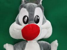 WB LOONEY TUNES TINY BABY GREY SYLVESTER THE CAT PUDDY PLUSH STUFFED ANIMAL