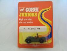 Corgi Juniors #76 - Militry Jeep - Green - A+/A