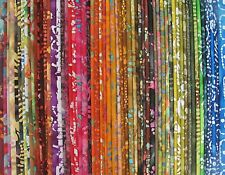 "BEAUTIFUL BATIKS - Rainbow of BATIK Blenders & Colours - 5"" Charm Squares x 60"