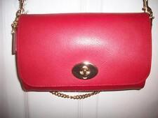 Coach CRSGR Mini Ruby F34604 Classic Red Leather Conv Crossbody/Clutch Bag NWT