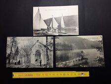 ancienne cartes postale lac d'Aiguebelette barque