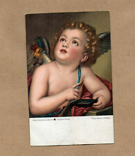 Art Card 1900's Misch and Co 1078 Cupid Sharpening arrow Raphael Mengs      BR2