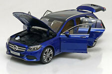 Norev 2014 Mercedes Benz C Klasse S205 Avantgarde Estate Blue Met Dealer Ed 1/18
