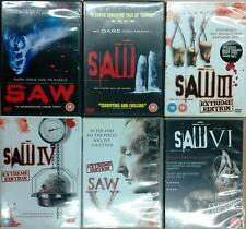 COMPLETE SAW 1,2,3,4,5,6 Uncut Extreme Torture Jigsaw Horror Thriller DVD *EXC*