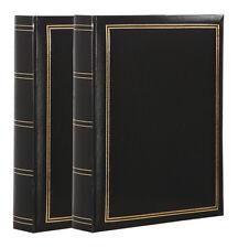 2x Fotoalbum Tradition in Schwarz 30x30 cm 100 Seiten Jumbo Fotoalbum Buchalbum