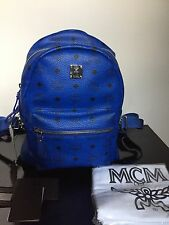MCM Backpack - Stark Side Stud Small  Mazarine Blue