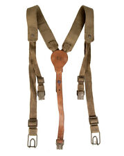 Y-Strap Shoulder Harness Canvas and Leather Suspenders Vintage Czech NEW