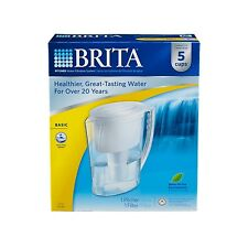 BRITA 42629 WATER FILTERATION PURIFIER SLIM PITCHER WITH FILTER S 5 CUP NEW