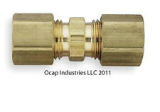 """Brass Brake Line Compression Unions for 5/16"""" Tubing 4 pack 5/16 Size"""