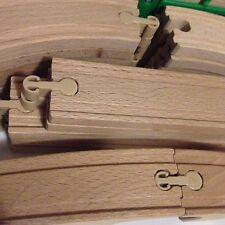 Wooden Railway Train Track 42 Piece Lot IKEA LILLABO