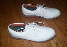 Polo Ralph Lauren Classic Leather White Golf Shoes Removable Cleats Size 8
