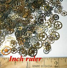 "500 GEARS ONLY 1/8""-1/4"" Sm - Med Watch STEAMPUNK Wheels Cogs Parts Pieces NOS"