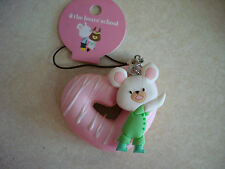 The Bears School Donut Squishy David tag Pink Heart Donut
