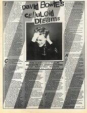 8/10/1977Pg22/24/25/26/43 Article & Pictures, David Bowie's Culluloid Dreams