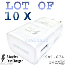 10x Adaptive Fast Wall Charger For Samsung S6 S6 Edge Note 5 REAL 5v2A/9v1.67A