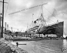 Photograph Vintage Steamship S.S. Proteus New Orleans levee 1903  8x10