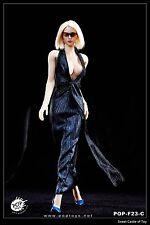 1/6 Pop Toys Action Figure Accessory Set - F23 Marilyn Monroe Dress Blue Suit