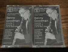 Benny Goodman Volume 1 & 2 Live At Basin St Cassette New!