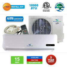 18000 BTU Mini Split Ductless Air Conditioner Inverter Heat Pump 15 SEER 1.5 TON