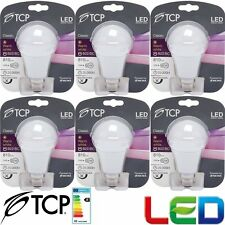 6 X TCP 10W B22/BC LED Bulb GLS Bayonet Lights Ultra Bright 810 Lumen White 1479