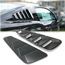 2x Carbon Fiber Rear Side Window Louvers Scoop Cover Vent For 05-14 Ford Mustang