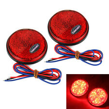 2pcs 12V Universal Red Car Round Brake Stop Tail Rear Signal Light Lamp Bulbs