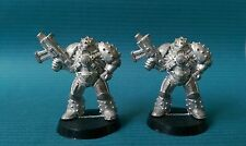 2 x Vintage Rogue Trader Imperial Space Marine Variant MK5 Heresy Armour Metal