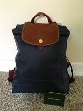 New with tags, Gun Metal Gray Le Pliage Longchamp Backpack