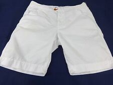PSYCHO BUNNY MENS WHITE CASUAL COTTON SHORTS SIZE 34