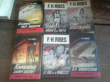 Lot 6 livres F-H. Ribes La souricière Kapanho camp secret Lecomte amour et mafia