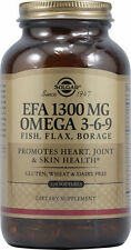 Solgar EFA 1300 MG Omega 3-6-9 (Fish, FLax, Borage) 120 softgel