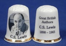 Special Offer Great British Authors 'C.S.Lewis 1898-1963' China Thimble B/86