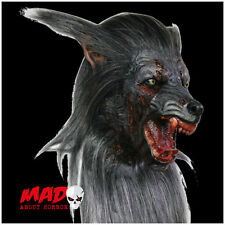 Deluxe Black Werewolf Latex Mask - Horror Collectors Halloween Wolf Costume